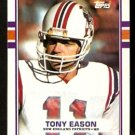 New England Patriots Tony Eason 1989 Topps Football Card 201