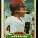 Washington Redskins Mike Bragg 1980 Topps Football Card 84 nr mt