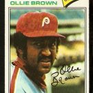 Philadelphia Phillies Ollie Brown 1977 Topps Baseball Card 84 em/nm
