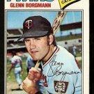 Minnesota Twins Glenn Borgman 1977 Topps Baseball Card 87 ex/em