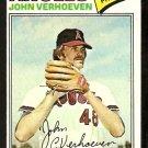 CALIFORNIA ANGELS JOHN VERHOEVEN 1977 TOPPS # 91 VG