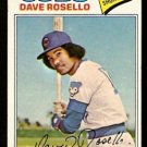 Chicago Cubs Dave Rosello 1977 Topps Baseball Card 92 g/vg
