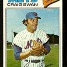 New York Mets Craig Swan 1977 Topps Baseball Card 94 vg