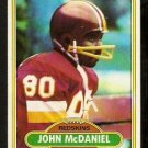 Washington Redskins John McDaniel 1980 Topps Football Card 254