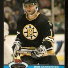 Boston Bruins Bob Carpenter 1991 Topps Stadium Club Hockey Card 161