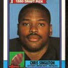 New England Patriots Chris Singleton RC Rookie Card 1990 Topps Football Card 416