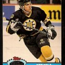 Boston Bruins Wes Walz 1991 Topps Stadium Club Hockey Card 325