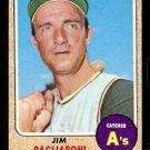 Pittsburgh Pirates Jim Pagliaroni 1968 Topps Baseball Card 586 ex smc