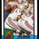 New England Patriots Steve Grogan 1990 Topps Football Card 418