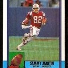 New England Patriots Sammy Martin RC Rookie Card 1990 Topps Football Card 422