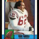 New England Patriots Sean Farrell 1990 Topps Football Card 425
