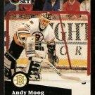 Boston Bruins Andy Moog 1991 Pro Set Hockey Card 10