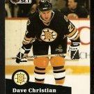 Boston Bruins Dave Christian 1991 Pro Set Hockey Card 11