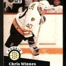 BOSTON BRUINS CHRIS WINNES ROOKIE CARD RC 1991 PRO SET # 522