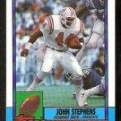 New England Patriots John Stephens 1990 Topps Football Card 427