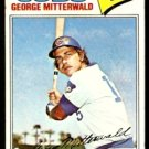 CHICAGO CUBS GEORGE MITTERWALD 1977 TOPPS # 124 VG