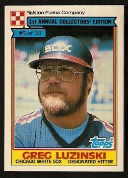 Chicago White Sox Greg Luzinski 1984 Ralston Purina Baseball Card 5