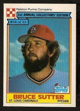 St Louis Cardinals Bruce Sutter 1984 Ralston Purina Baseball Card 24 vg
