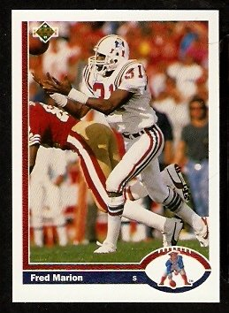 New England Patriots Fred Marion 1991 Upper Deck Football Card 375