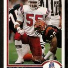 New England Patriots Chris Singleton 1991 Upper Deck Football Card 408
