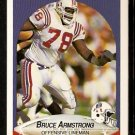 New England Patriots Bruce Armstrong 1990 Fleer Football Card 317