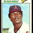 CALIFORNIA ANGELS ORLANDO RAMIREZ 1977 TOPPS # 131 VG