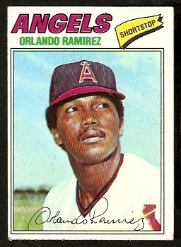 California Angels Orlando Ramirez 1977 Topps Baseball Card 131 vg