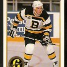 BOSTON BRUINS KEN HODGE 1991 OPC PREMIER ORIGINAL 6 # 154 O PEE CHEE