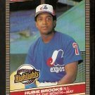 MONTREAL EXPOS HUBIE BROOKS 1986 DONRUSS HIGHLIGHTS # 15