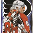 DETROIT RED WINGS SERGEI FEDOROV PHILADELPHIA FLYERS ERIC LINDROS 1994 PINUP PHOTOS