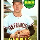 SAN FRANCISCO GIANTS RAY SADECKI 1969 TOPPS # 125 EX