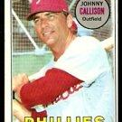 PHILADELPHIA PHILLIES JOHNNY CALLISON 1969 TOPPS # 133 VG