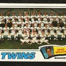 MINNESOTA TWINS TEAM CARD 1977 TOPPS # 228 good marked cl