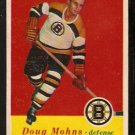BOSTON BRUINS DOUG MOHNS 1957 TOPPS # 12 EX/EM