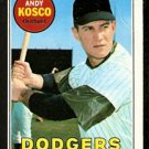 LOS ANGELES DODGERS ANDY KOSKO 1969 TOPPS # 139 VG