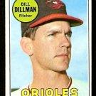 BALTIMORE ORIOLES BILL DILLMAN 1969 TOPPS # 141 EX/EM