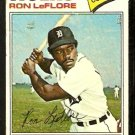 DETROIT TIGERS RON LeFLORE 1977 TOPPS # 240 fair