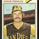 SAN DIEGO PADRES DAVE TOMLIN 1977 TOPPS # 241 EX