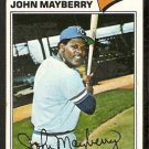 KANSAS CITY ROYALS JOHN MAYBERRY 1977 TOPPS # 244 VG