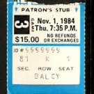 1984 BOSTON GARDEN TICKET STUB QUEBEC NORDIQUES vs BOSTON BRUINS RAY BOURQUE 2 ASSISTS