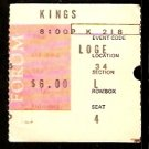 1968 TICKET STUB BOSTON BRUINS @ LOS ANGELES KINGS PHIL ESPOSITO 4 POINTS