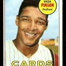 ST LOUIS CARDINALS VADA PINSON 1969 TOPPS # 160 EX/EM