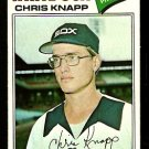 CHICAGO WHITE SOX CHRIS KNAPP 1977 TOPPS # 247 VG