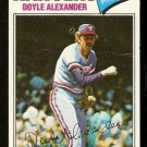 TEXAS RANGERS DOYLE ALEXANDER 1977 TOPPS # 254 G/VG
