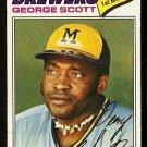 MILWAUKEE BREWERS GEORGE SCOTT 1977 TOPPS # 255 VG