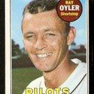SEATTLE PILOTS RAY OYLER 1969 TOPPS # 178 VG