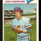 TEXAS RANGERS JOE HOERNER 1977 TOPPS # 256 good