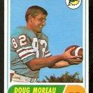 MIAMI DOLPHINS DOUG MOREAU 1968 TOPPS # 144 EX/EM