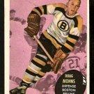 BOSTON BRUINS DOUG MOHNS 1961 TOPPS # 10 NR MT