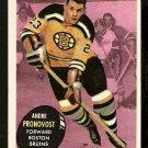 BOSTON BRUINS ANDRE PRONOVOST 1961 TOPPS # 5 NR MT